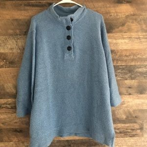 Large Soft Surroundings Blue Tunic Top